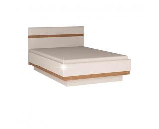 Manželská posteľ Lynatet 91 140 - biela / biely vysoký lesk / dub sonoma truflový