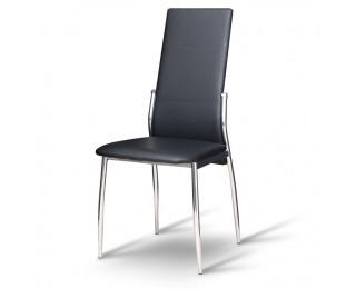 Jedálenská stolička Solana - čierna / chróm