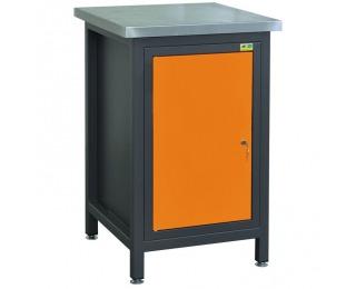 Vŕtací stôl s dvierkami 06-1548 A - grafit / oranžová