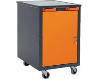 Mobilný kontajner k pracovnému stolu na kolieskach A1 - grafit / oranžová