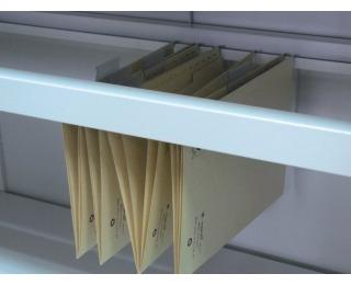 Otvorená polica do kovovej kancelárskej skrine 06-2320 - svetlosivá