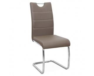 Jedálenská stolička Abira New - hnedá / chróm
