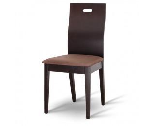 Jedálenská stolička Abril - wenge / tmavohnedá