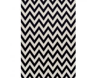 Koberec Adisa 200x285 cm - slonovinová / tmavosivá