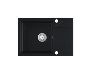Granitový kuchynský drez Adria 63x43,5 cm - čierna