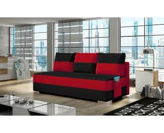 Rozkladacia pohovka s úložným priestorom Adria - čierna / červená