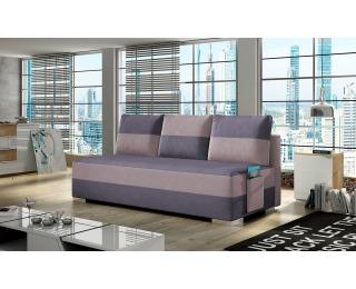Rozkladacia pohovka s úložným priestorom Adria - fialová / ružová