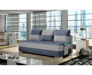 Rozkladacia pohovka s úložným priestorom Adria - modrá / svetlosivá