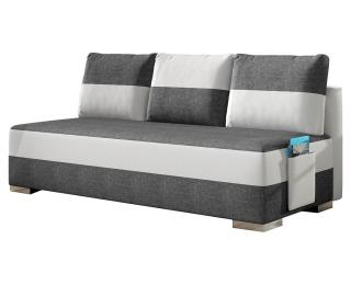 Rozkladacia pohovka s úložným priestorom Adria - svetlosivá / biela