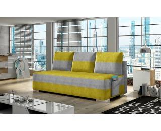 Rozkladacia pohovka s úložným priestorom Adria - žltá / svetlosivá