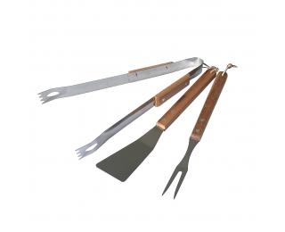 Grilovacie náradie AE189 - drevo / chróm