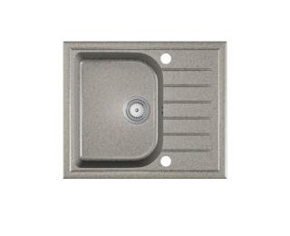 Granitový kuchynský drez Alaros 58,5x49 cm - sivá