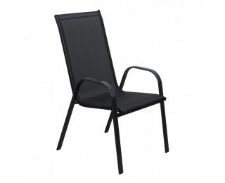 Záhradná stolička Aldera - tmavosivá / čierna