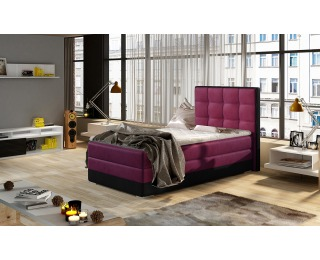 Čalúnená jednolôžková posteľ Alessandra 90 - vínová / čierna