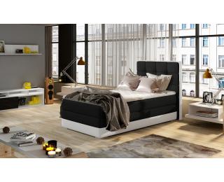 Čalúnená jednolôžková posteľ Alessandra 90 L - čierna / biela