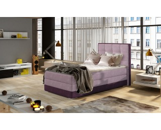 Čalúnená jednolôžková posteľ Alessandra 90 L - ružová / fialová