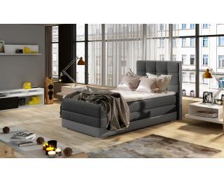 Čalúnená jednolôžková posteľ Alessandra 90 L - tmavosivá / sivá