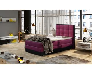 Čalúnená jednolôžková posteľ Alessandra 90 L - vínová / čierna