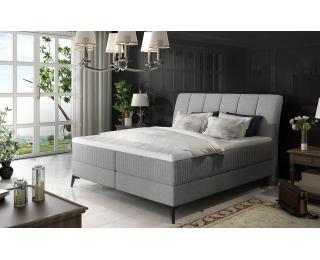 Čalúnená manželská posteľ s úložným priestorom Altama 140 - svetlosivá (Sawana 21)