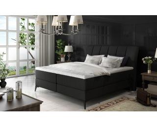 Čalúnená manželská posteľ s úložným priestorom Altama 160 - čierna (Sawana 14)