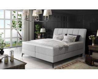 Čalúnená manželská posteľ s úložným priestorom Altama 160 - svetlosivá (Cover 83)