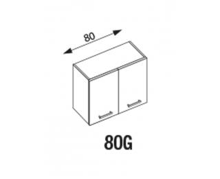 Horná kuchynská skrinka Amanda G80 - dub santana