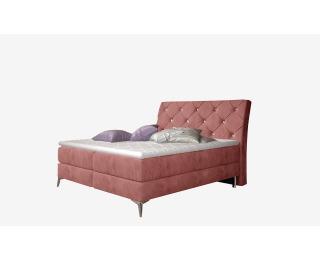 Čalúnená manželská posteľ s úložným priestorom Amika 160 - ružová (Kronos 29)