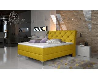 Čalúnená manželská posteľ s úložným priestorom Amika 160 - žltá