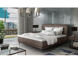 Čalúnená manželská posteľ Ancona 180 - hnedá