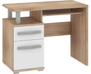 PC stôl Angel ANG-02 - sonoma svetlá / biely lesk