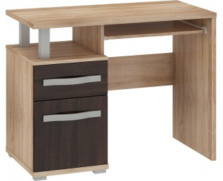 PC stôl Angel ANG-02 - sonoma svetlá / sonoma tmavá