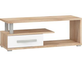 TV stolík Angel ANG-12 - sonoma svetlá / biely lesk