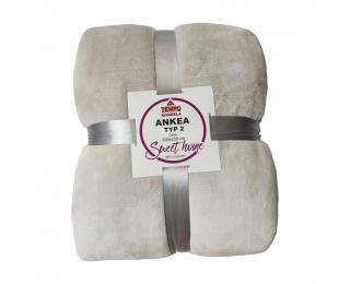 Obojstranná deka Ankea Typ 2 200x220 cm - biela