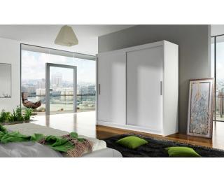 Šatníková skriňa s posuvnými dverami Bega 1 - biela
