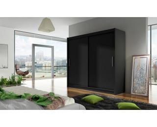 Šatníková skriňa s posuvnými dverami Bega 1 - čierna