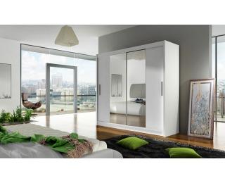 Šatníková skriňa s posuvnými dverami Bega 2 2D - biela