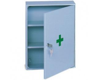 Kovová skrinka na lekárničku AP2 - svetlosivá