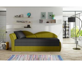 Rozkladacia pohovka Arco L - čierna / žltá