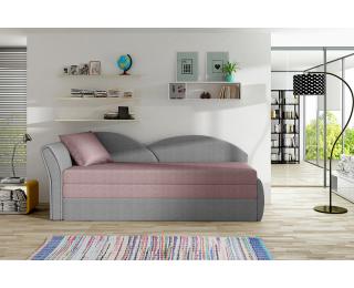Rozkladacia pohovka Arco L - ružová / sivá