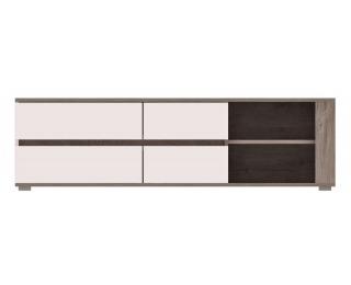 TV stolík Ares AS2 - dub enderein / biely lesk