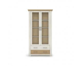 Dvojdverová vitrína Armond Typ 4 - sosna nordická / dub kamenný