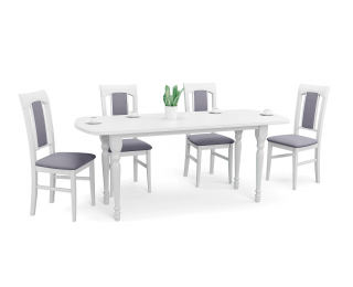 Rozkladací jedálenský stôl Arnold - biela