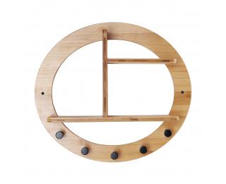 Vešiak s poličkami Artid Typ 1 - bambus