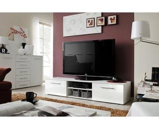 TV stolík Bono II WWH - biela / biely vysoký lesk