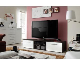 TV stolík Bono II EMWH - wenge / biely vysoký lesk
