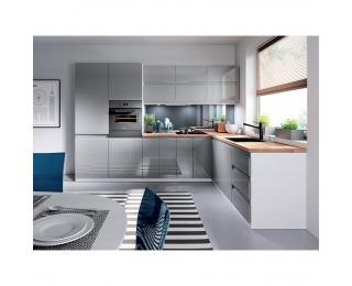 Kuchynská linka Aurora - biela / sivý lesk