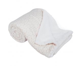Obojstranná baránková deka Avanti 150x200 cm - béžová / biela / vzor