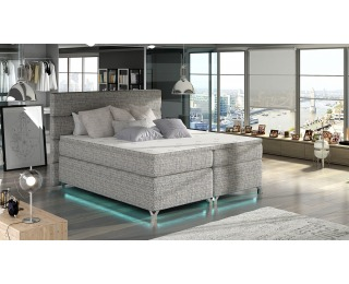 Čalúnená manželská posteľ s úložným priestorom Avellino 180 - sivá (Berlin 01)