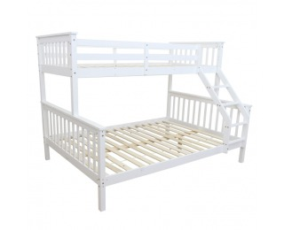 Poschodová posteľ s roštami Bagira 90/140 90/140x200 cm - biela