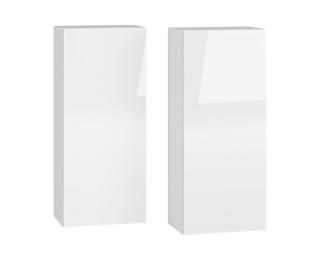 Kúpeľňová skrinka na stenu (2 ks) Baleta 2S - alaska / biely lesk